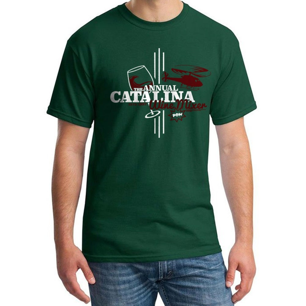 Shop Step Brothers Catalina Wine Mixer Mens Forest Green T Shirt