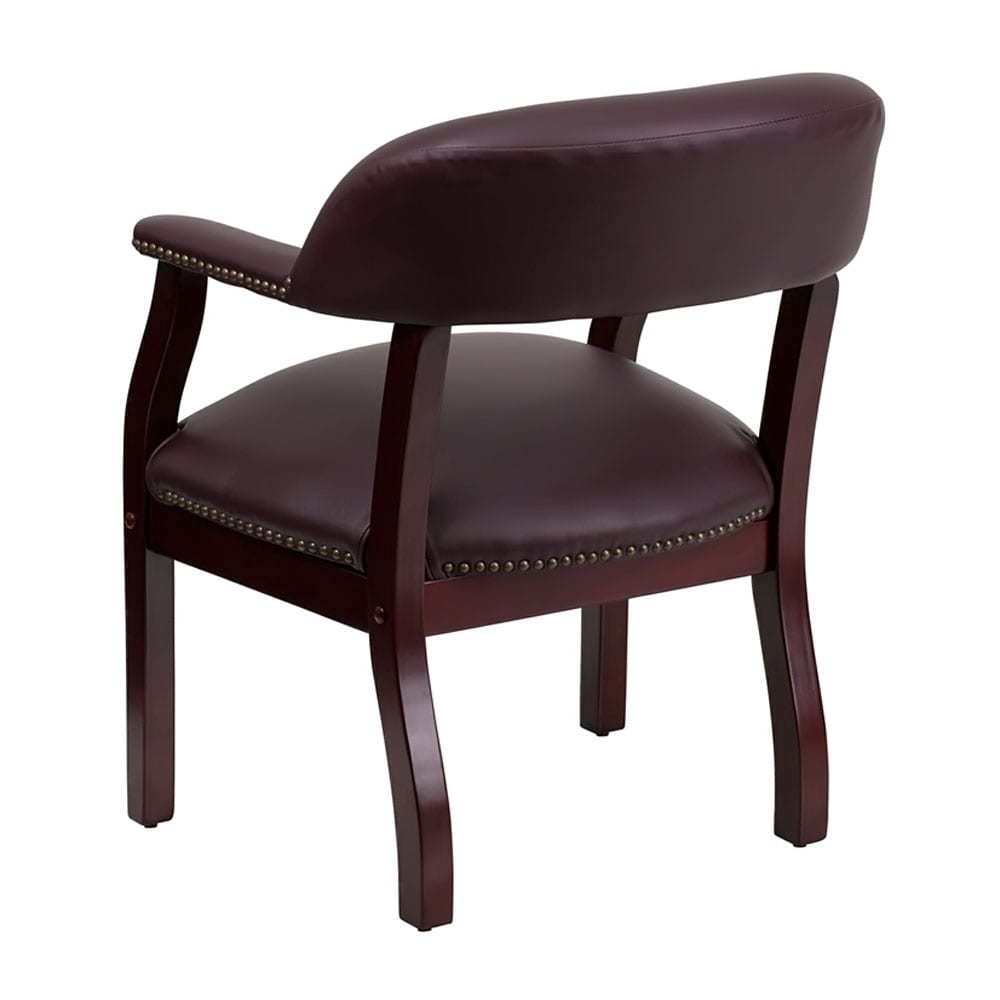 offex burgundy leather conference chair of b z105 lf19 lea gg