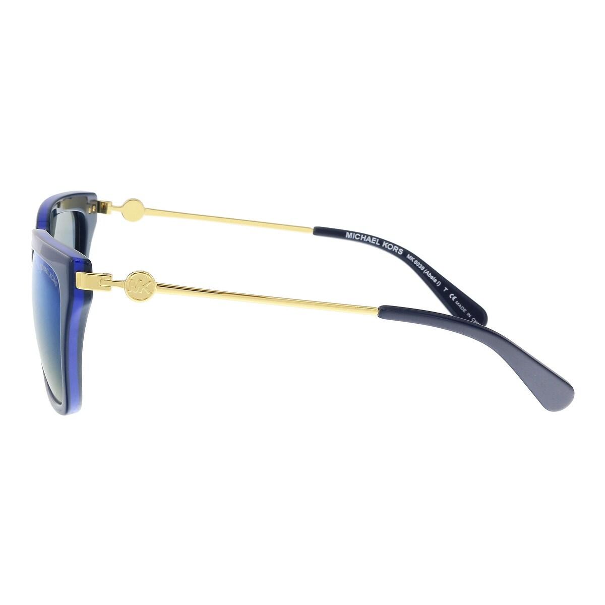6cc3fd08c1 Shop Michael Kors MK6038 313455 ABELA I Navy Cobalt Square Sunglasses -  56-17-140 - Free Shipping Today - Overstock.com - 21158002