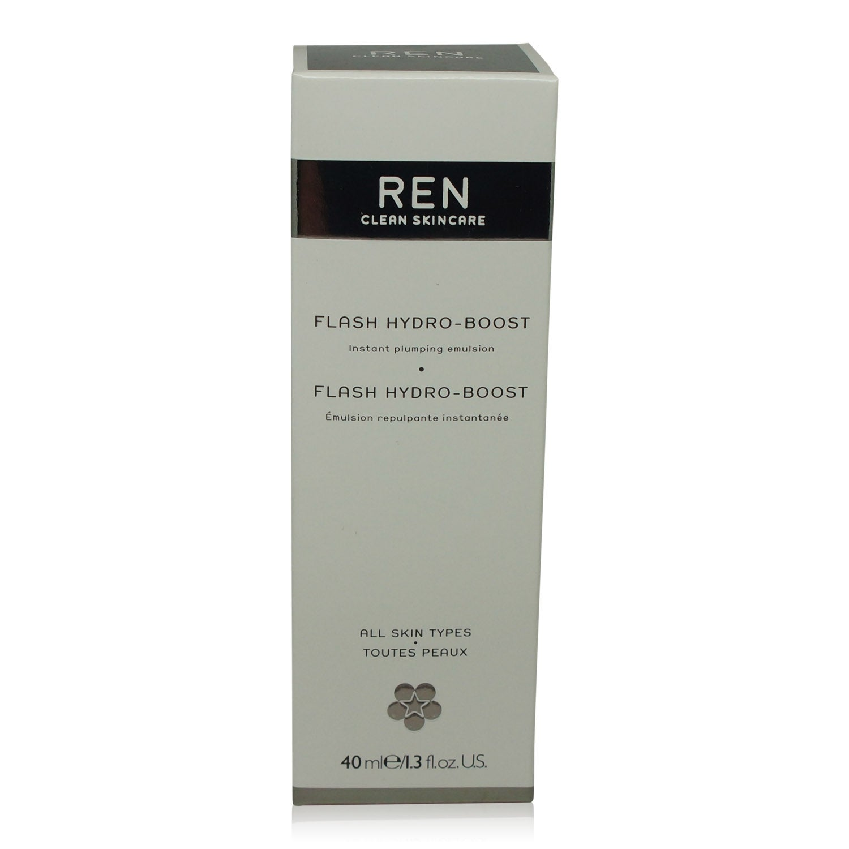 REN Skincare Flash Hydro-Boost 1.3 fl Oz 4 Pack - OLAY Oil Minimizing Clean Toner 7.20 oz