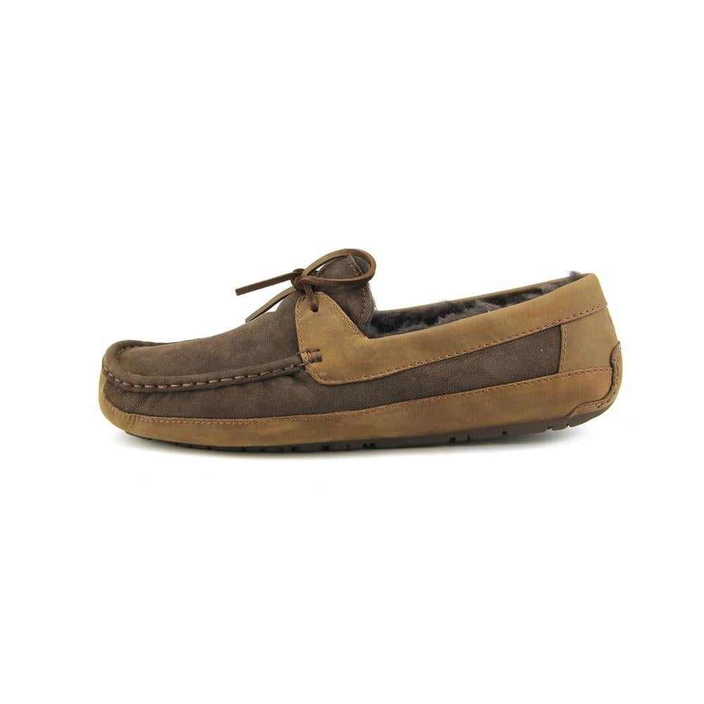 19ca41673db Ugg Australia Byron Men Suede Brown Moccasin Slippers Shoes