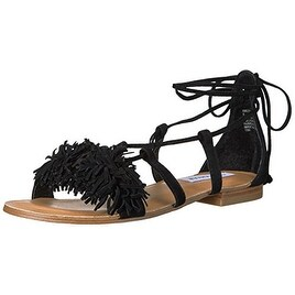 688b8cbfff4 Shop Steve Madden Womens Swizzle Leather Open Toe Casual Strappy Sandals -  Free Shipping On Orders Over  45 - Overstock.com - 19857308