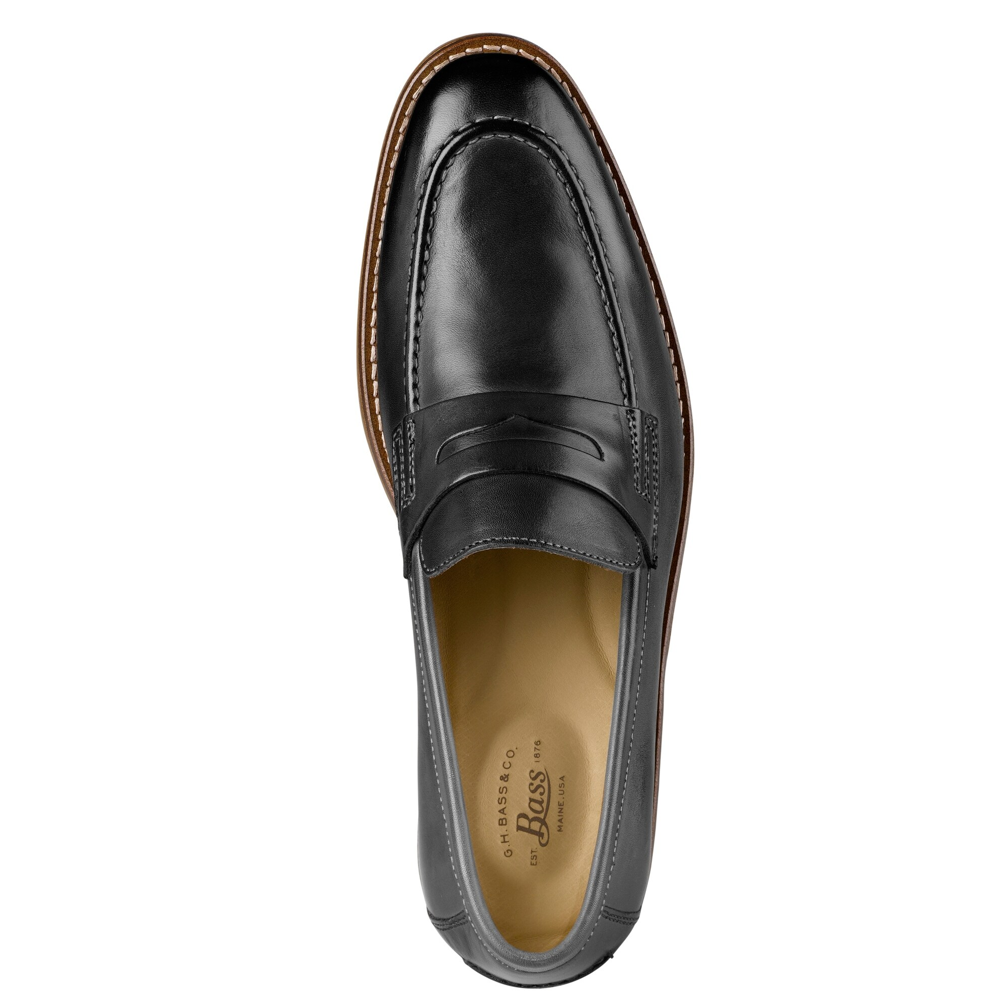 370119574db Mens Conner Leather Penny Loafer Shoe - On Sale - Free Shipping Today -  Overstock - 22538568