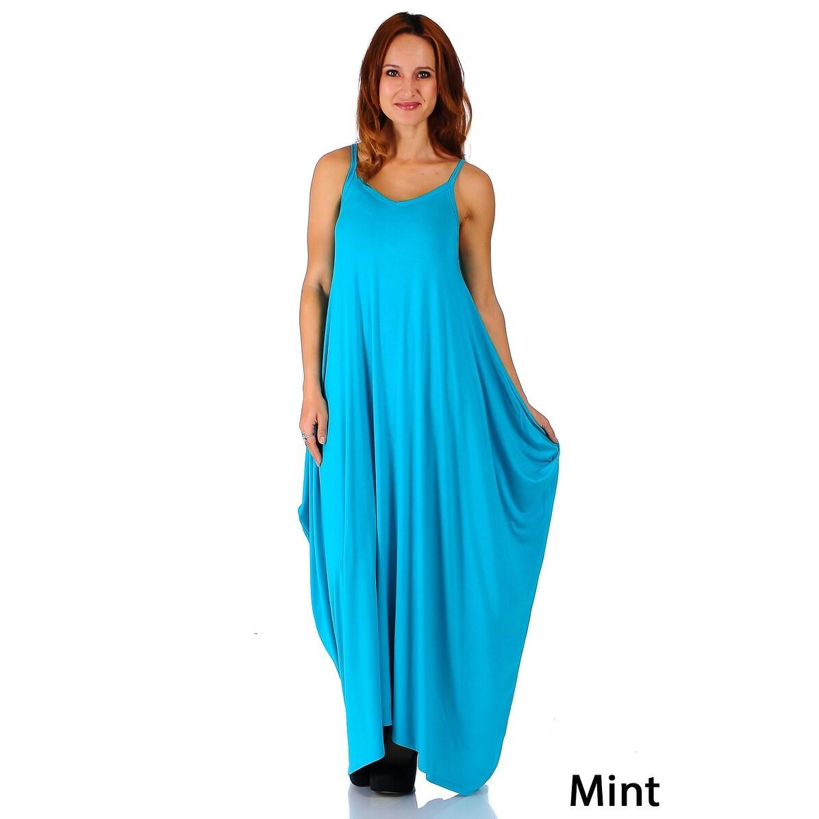 Shop Simply Ravishing Women\'s Maxi Boho Harem Spaghetti Strap Dress ...