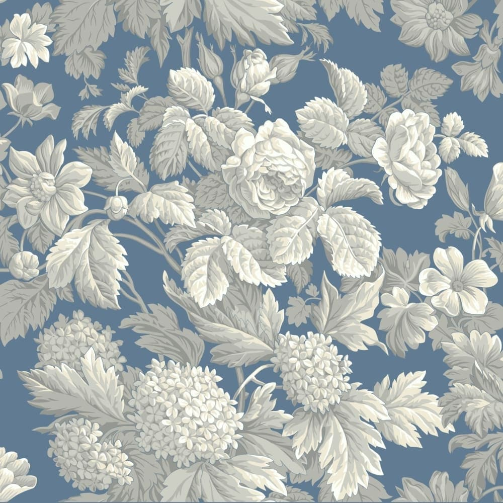 Shop York Wallcoverings Kc1845 Blue Book Antique Floral Wallpaper