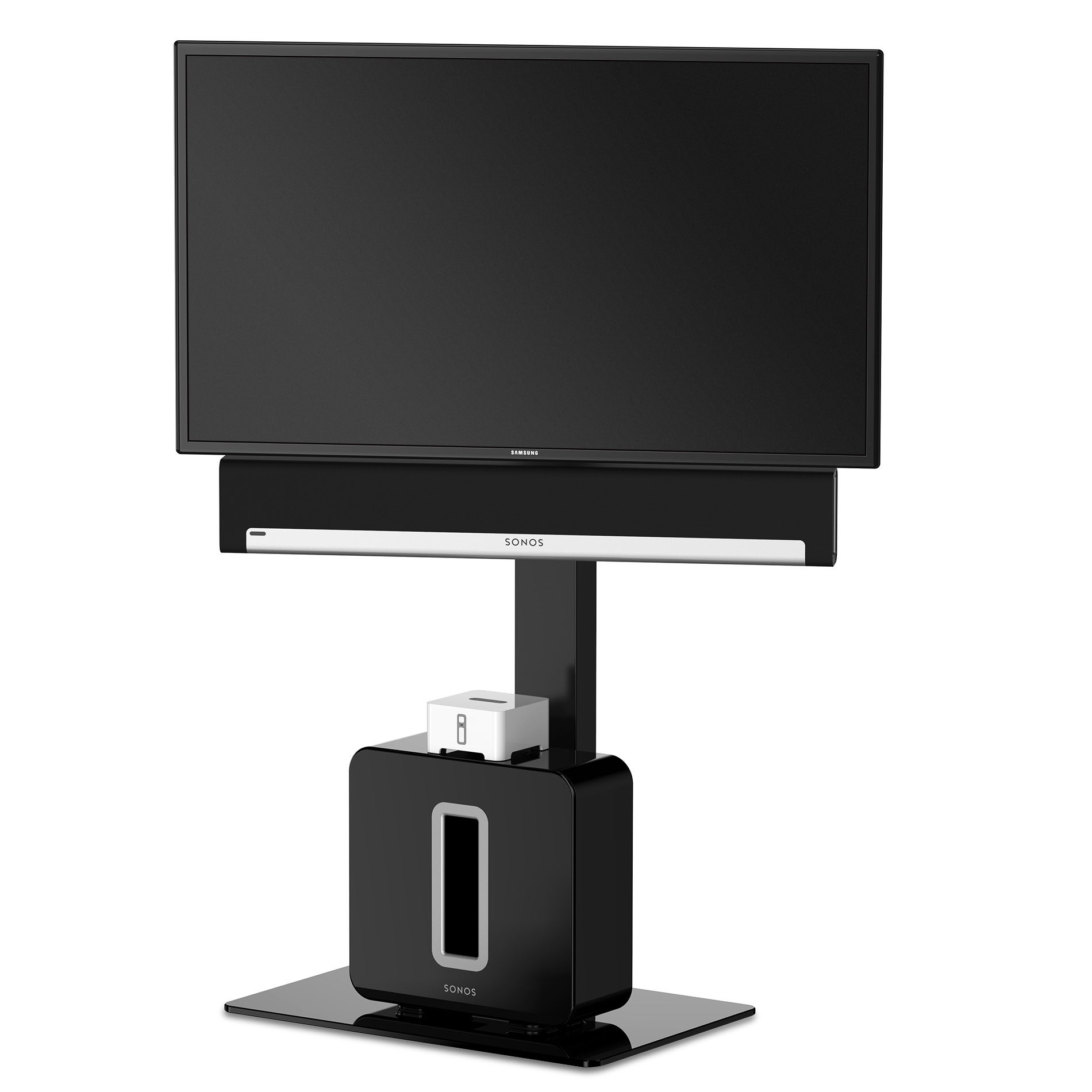 Shop Fitueyes Universal Tv Stand Base With Swivel Mount Height