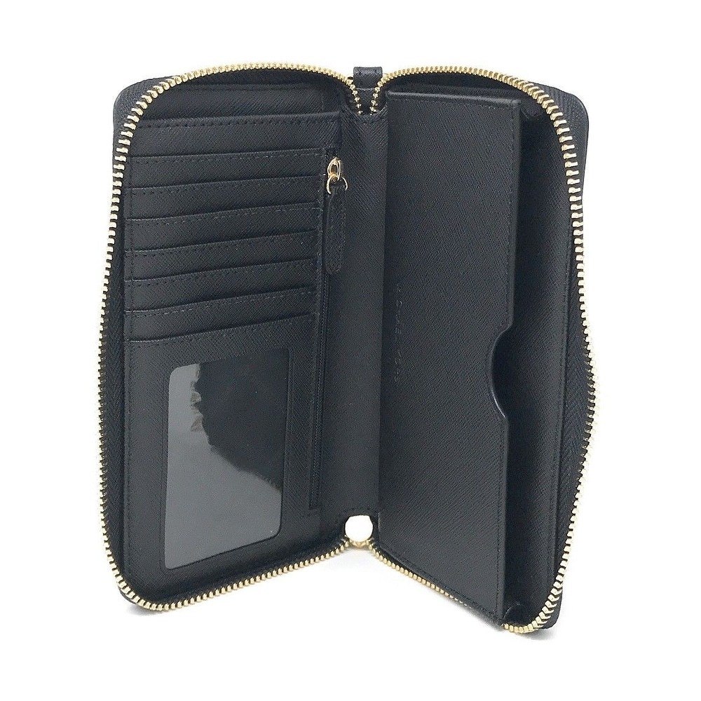 7f600e863fd4 Shop Michael Kors Jet Set Travel Large Multifunction Smartphone Saffiano  Leather Wristlet Case - Free Shipping Today - Overstock - 25576160