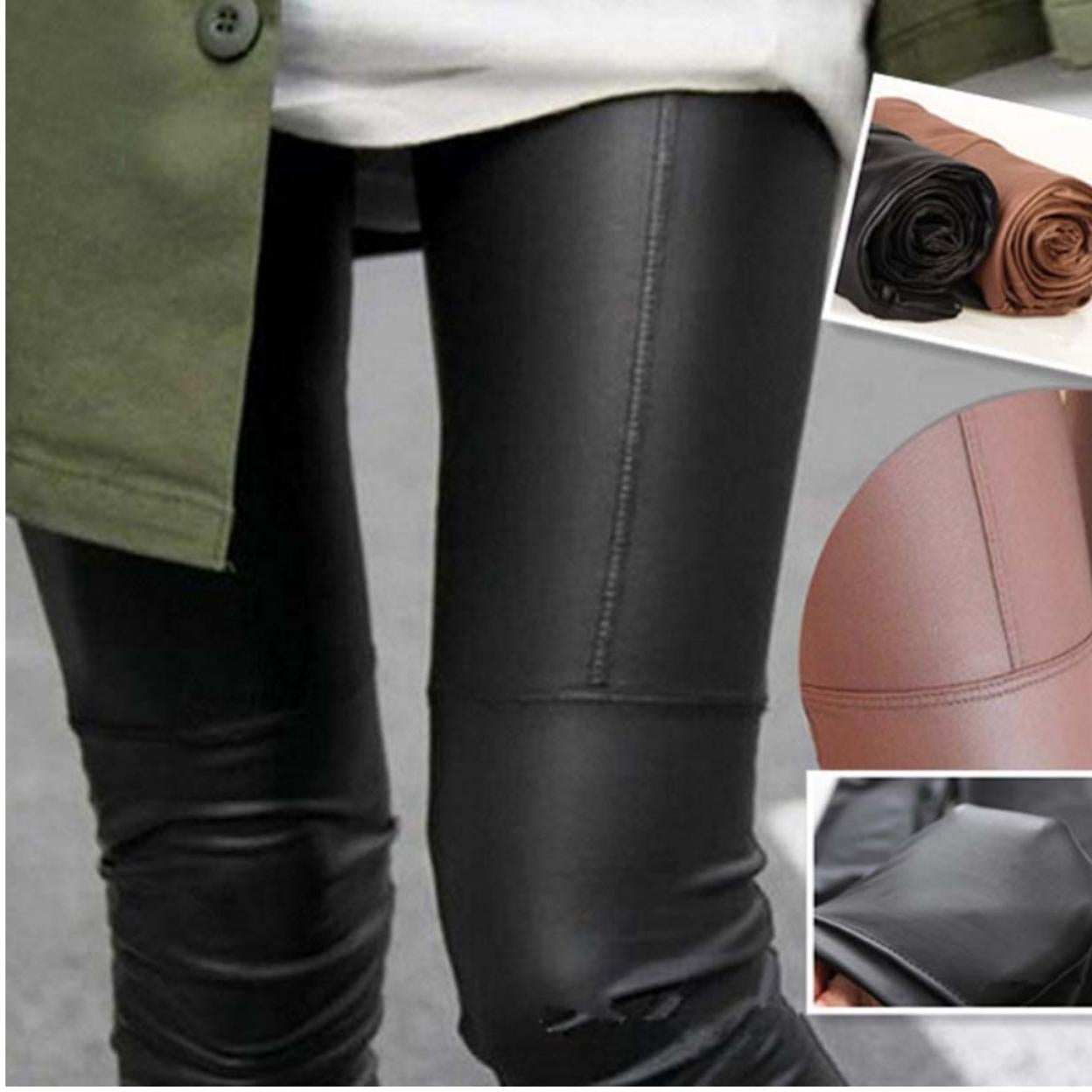 4ddbb05675a Shop Hot Fashionable Autumn Winter Faux Leather Leggings Pants For Women -  On Sale - Free Shipping On Orders Over  45 - Overstock - 26953681