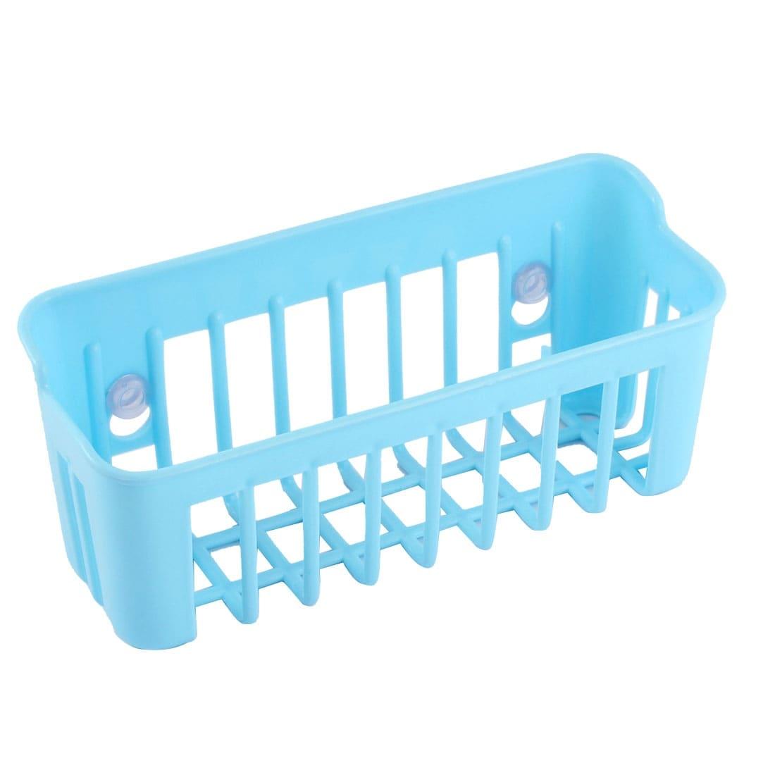 Shop Bathroom Plastic Cuboid Shape Hollow Out Suction Cup Storage ...