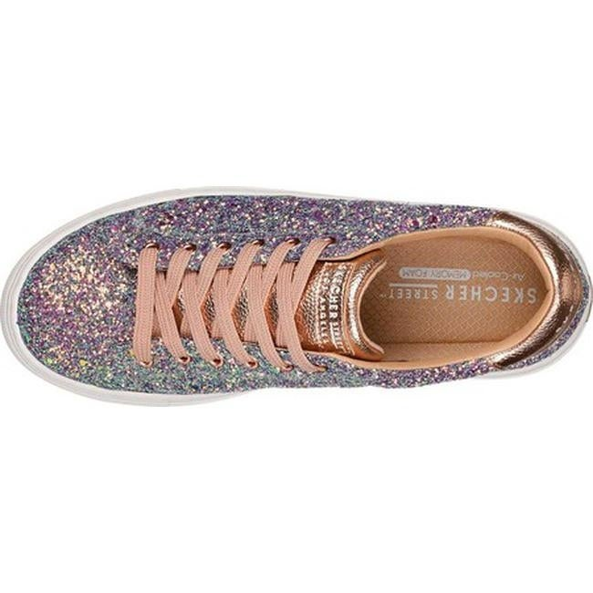 322a4183242d Shop Skechers Women s Side Street Awesome Sauce Sneaker Gold Multi - Free  Shipping Today - Overstock - 20474896