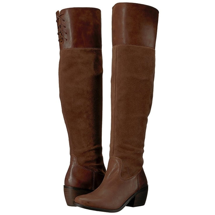 f69ecbb54ff Shop Lucky Brand Womens Komah Leather Almond Toe Over Knee Fashion ...