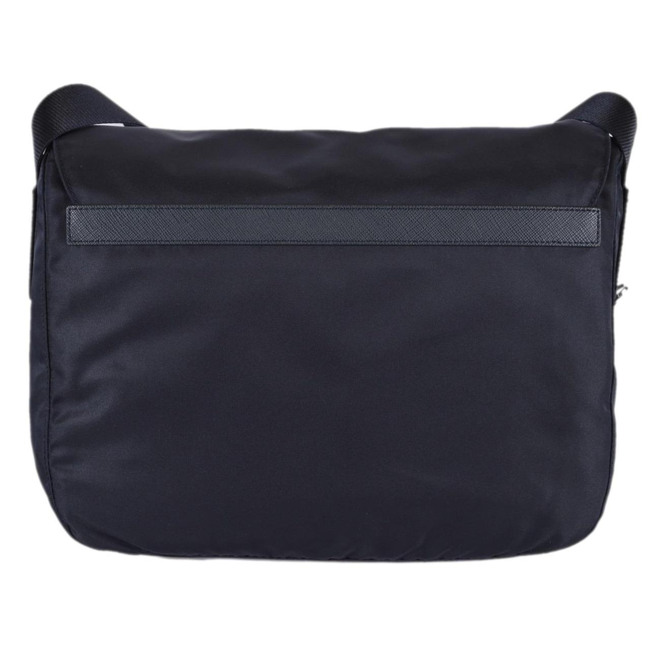 01b091cf1924 Shop Prada Women s 1BD671 Blue Tessuto Nylon Crossbody Purse Bag ...