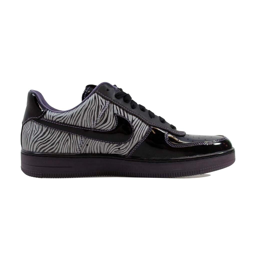 hot sale online e1025 aeb47 Shop Nike Mens Air Force 1 Downtown NRG BlackBlack-Metallic Silver-Purple  Zebra 573979-003 Size 9.5 - Free Shipping Today - Overstock - 22546791