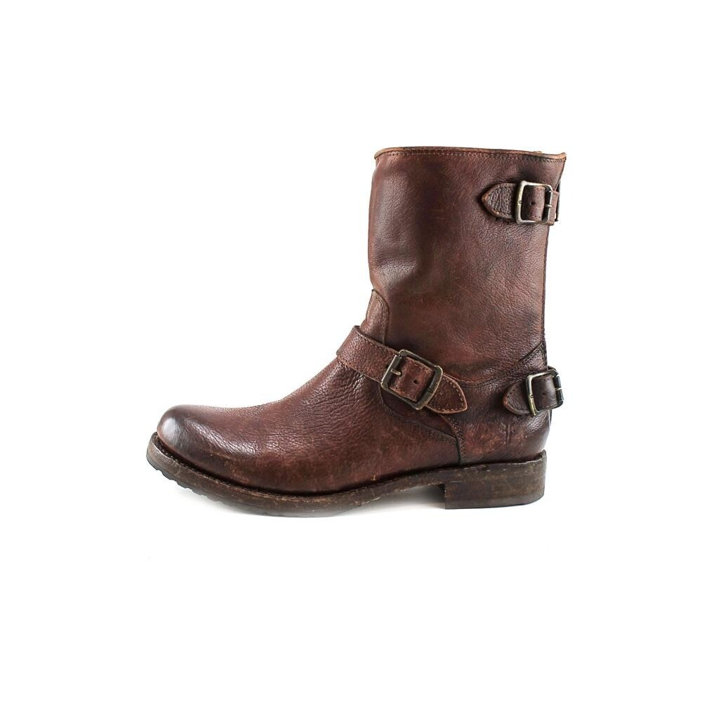 dd3fef2a914 Shop Frye Veronica Back Zip Short Women Round Toe Leather Brown Mid Calf  Boot - Free Shipping Today - Overstock - 13631941