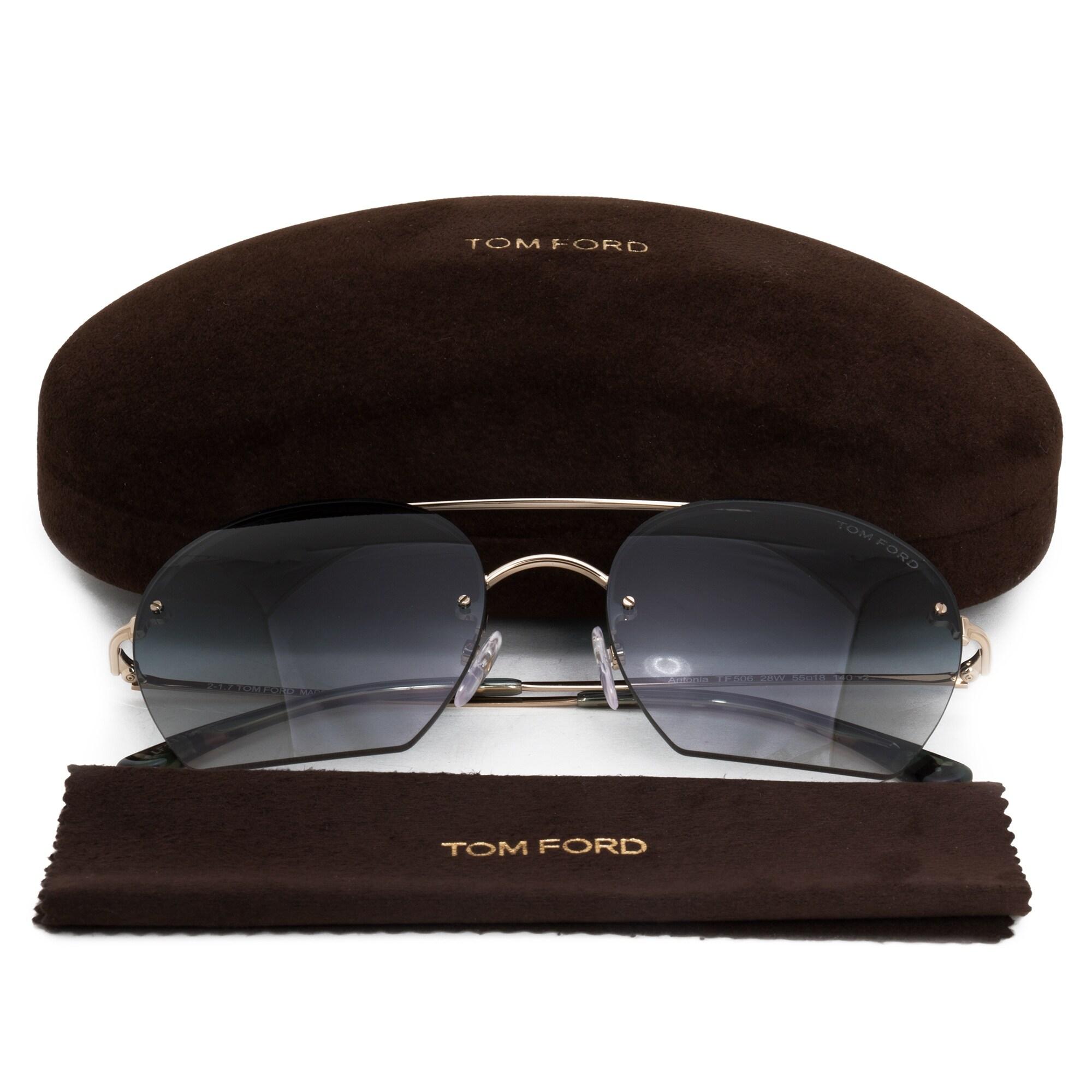 0f52201ab1f Shop Tom Ford Antonia Aviator Sunglasses FT0506 28W 55