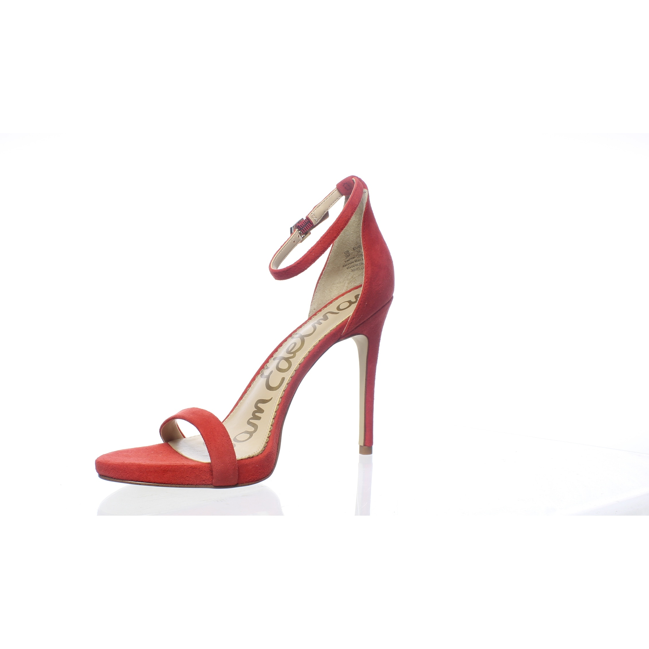 4d91d4d01c7 Sam Edelman Womens Ariella Candy Red Ankle Strap Heels Size 8