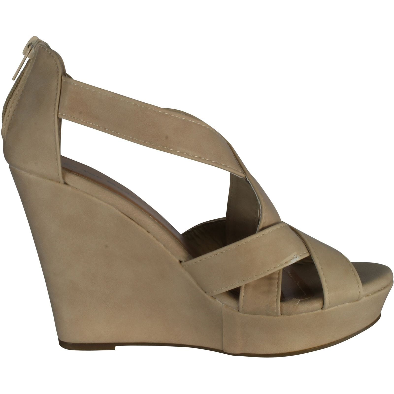 bafdd4c8c1bb Shop Top Moda Ella-18 Womens Gladiator Wedge Heel Sandals - Free Shipping  On Orders Over  45 - Overstock - 14312377