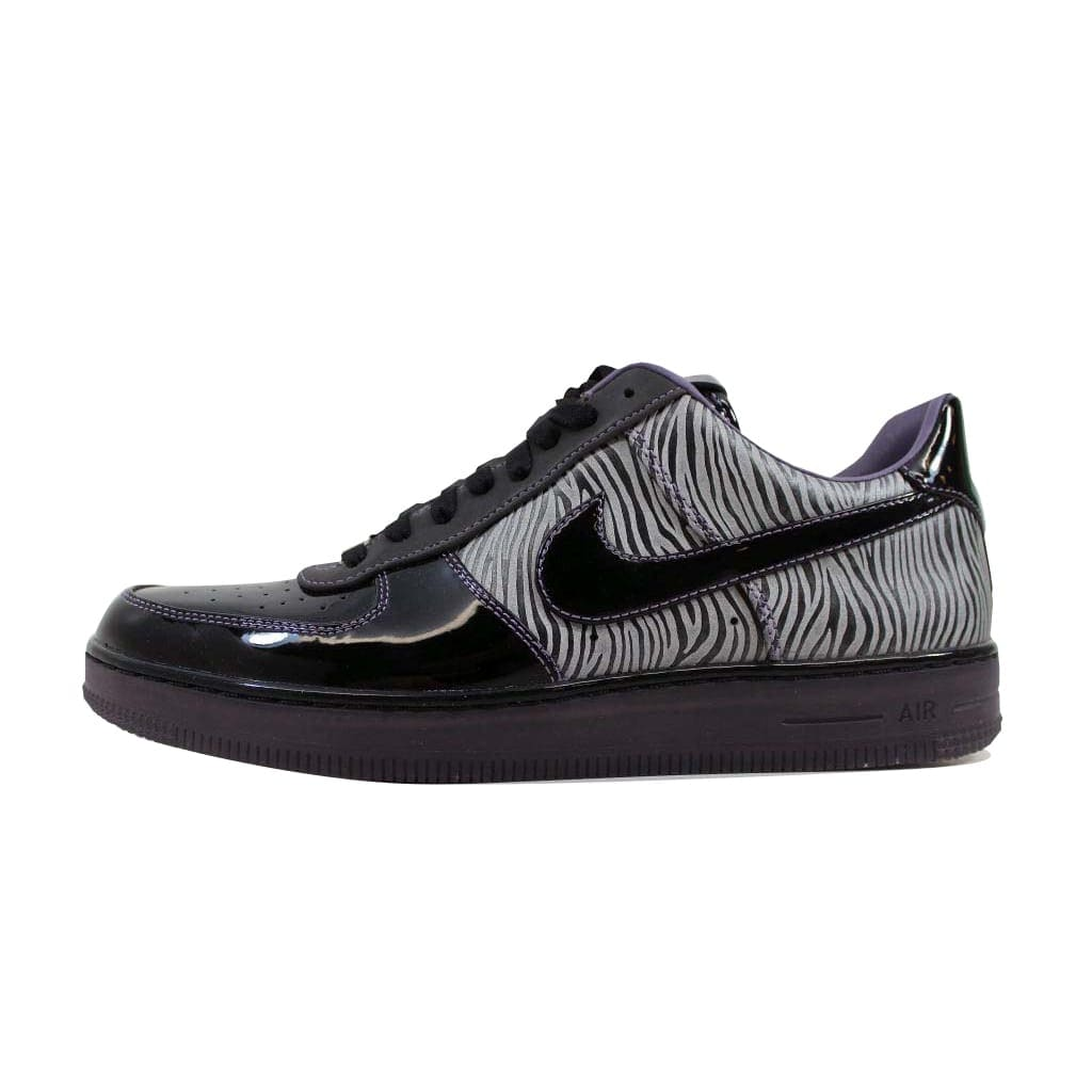 new arrival 032a3 43704 Shop Nike Men's Air Force 1 Downtown NRG Black/Black-Metallic Silver-Purple  Zebra 573979-003 Size 9.5 - Free Shipping Today - Overstock - 22546791