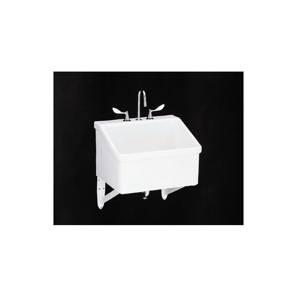 Shop Kohler K-12794 Hollister utility sink with three-hole faucet ...