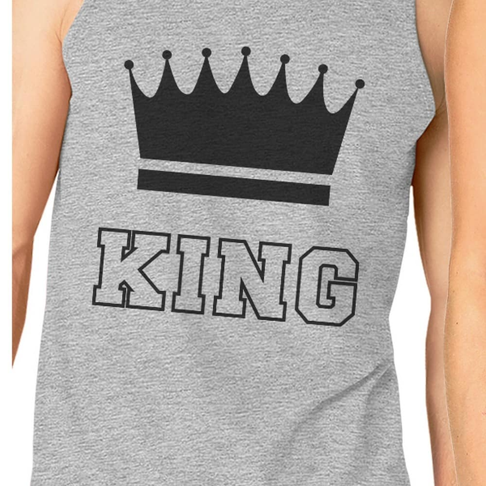 b24a4c97c7664f Shop King And Queen Matching Couple Tank Tops Grey For Couples Gifts - Free  Shipping On Orders Over  45 - Overstock - 22401420