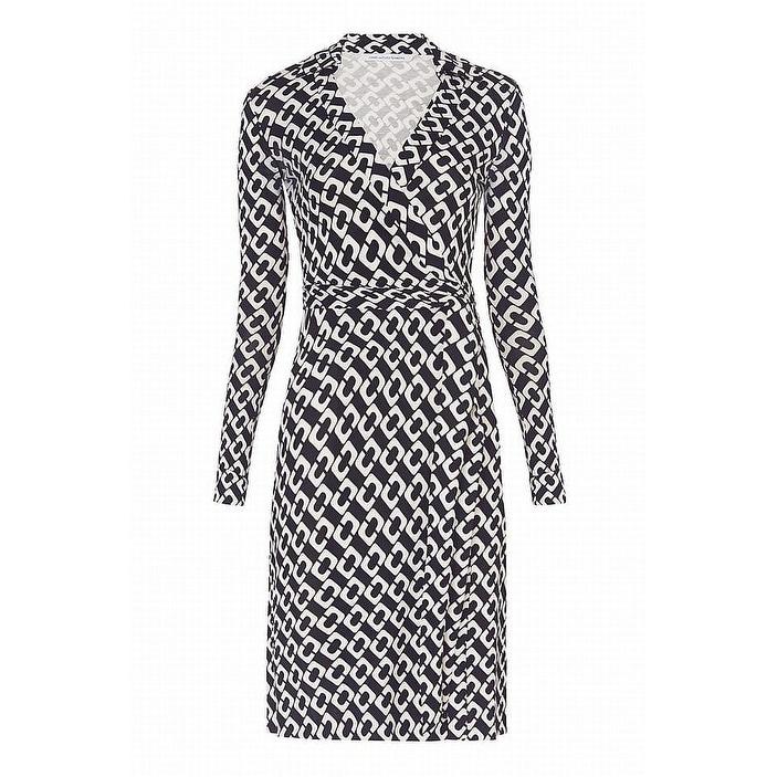 0101e4fb541ba Shop Diane von Furstenberg Womens Jeanne Silk Wrap Dress - Free Shipping  Today - Overstock - 22348680