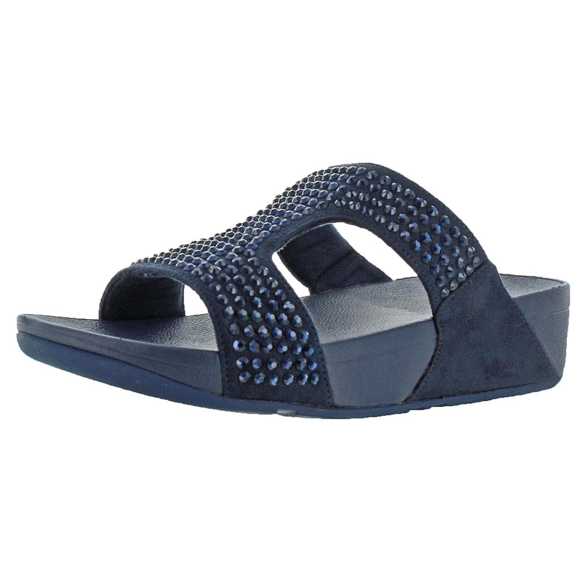 86077f76b99fb0 Shop Fitflop Womens Glitzie Slide Slide Sandals Microfiber Slip on - 7  Medium (B