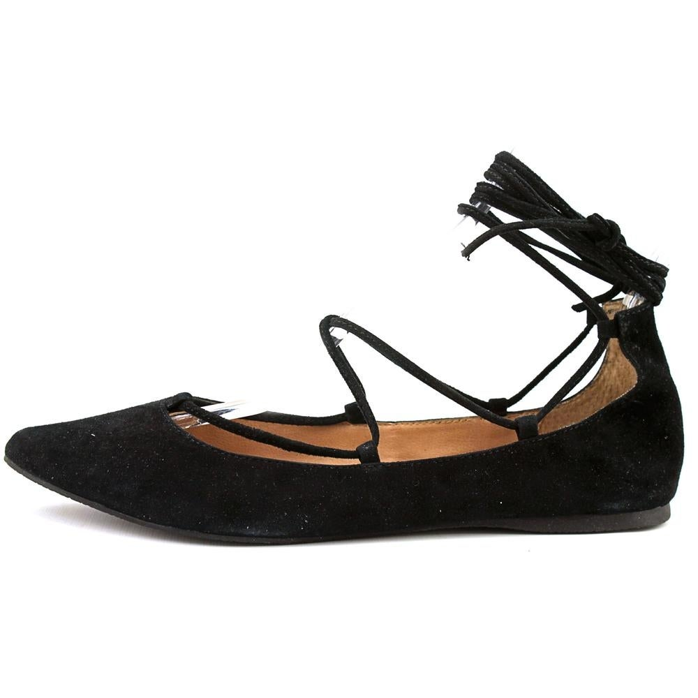 ddd6bb74d6d Shop Steve Madden Eleanorr Women Pointed Toe Suede Black Flats - Free  Shipping On Orders Over  45 - Overstock - 13570287