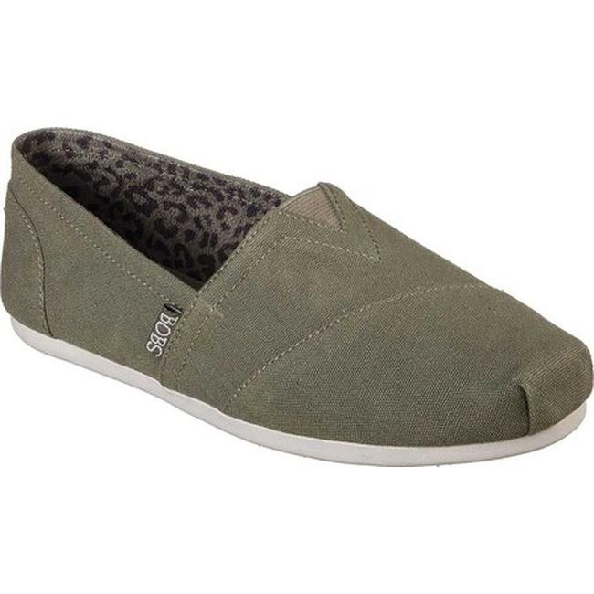Shop Skechers Women s BOBS Plush Peace and Love Olive - On Sale ... 96ddf2927