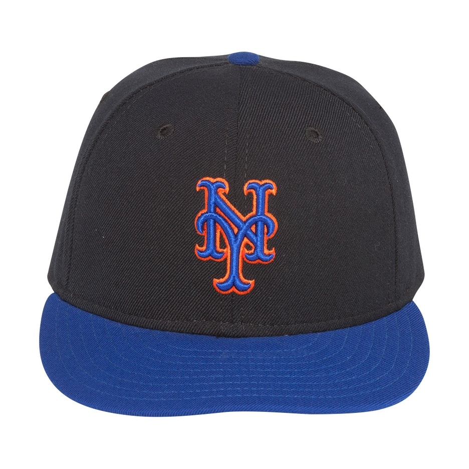 Shop MLB New Era New York Mets Wool Fitted Hat-Black Royal - 6 3 4 ... e4117fdf25b