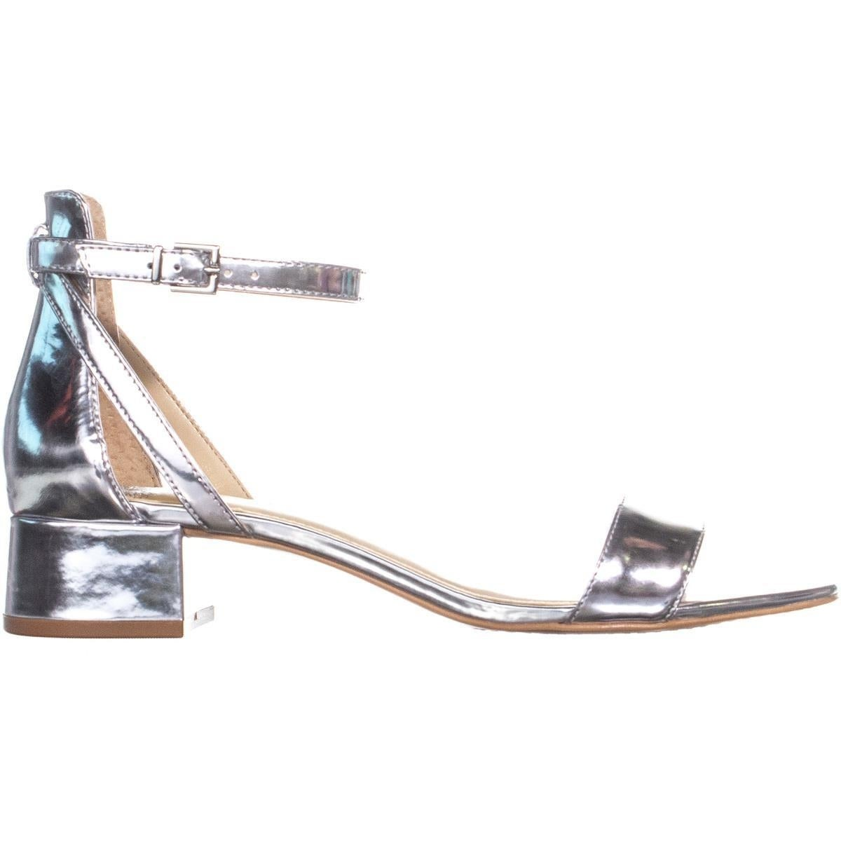 b0843bf334 Shop Vince Camuto Shetana Ankle Strap Sandals, Bright Silver - 8 us / 38 eu  - Free Shipping Today - Overstock - 23533722