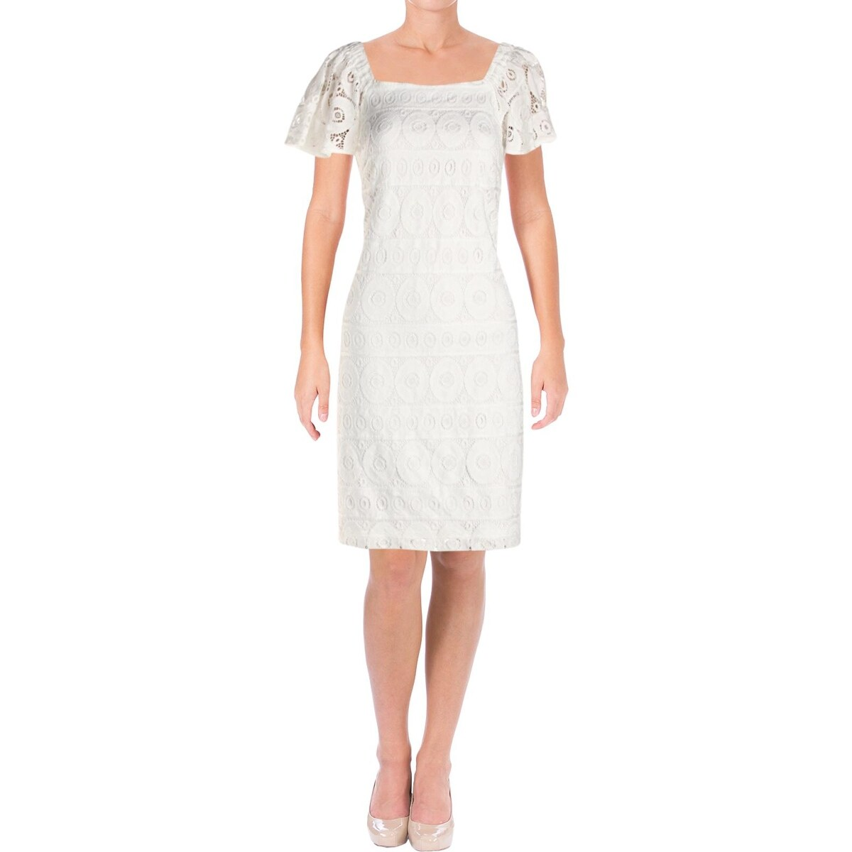 5779a8b46283 Shop Signature By Robbie Bee Womens Petites Party Dress Off-The-Shoulder  Lace - 10P - Ships To Canada - Overstock - 24267954