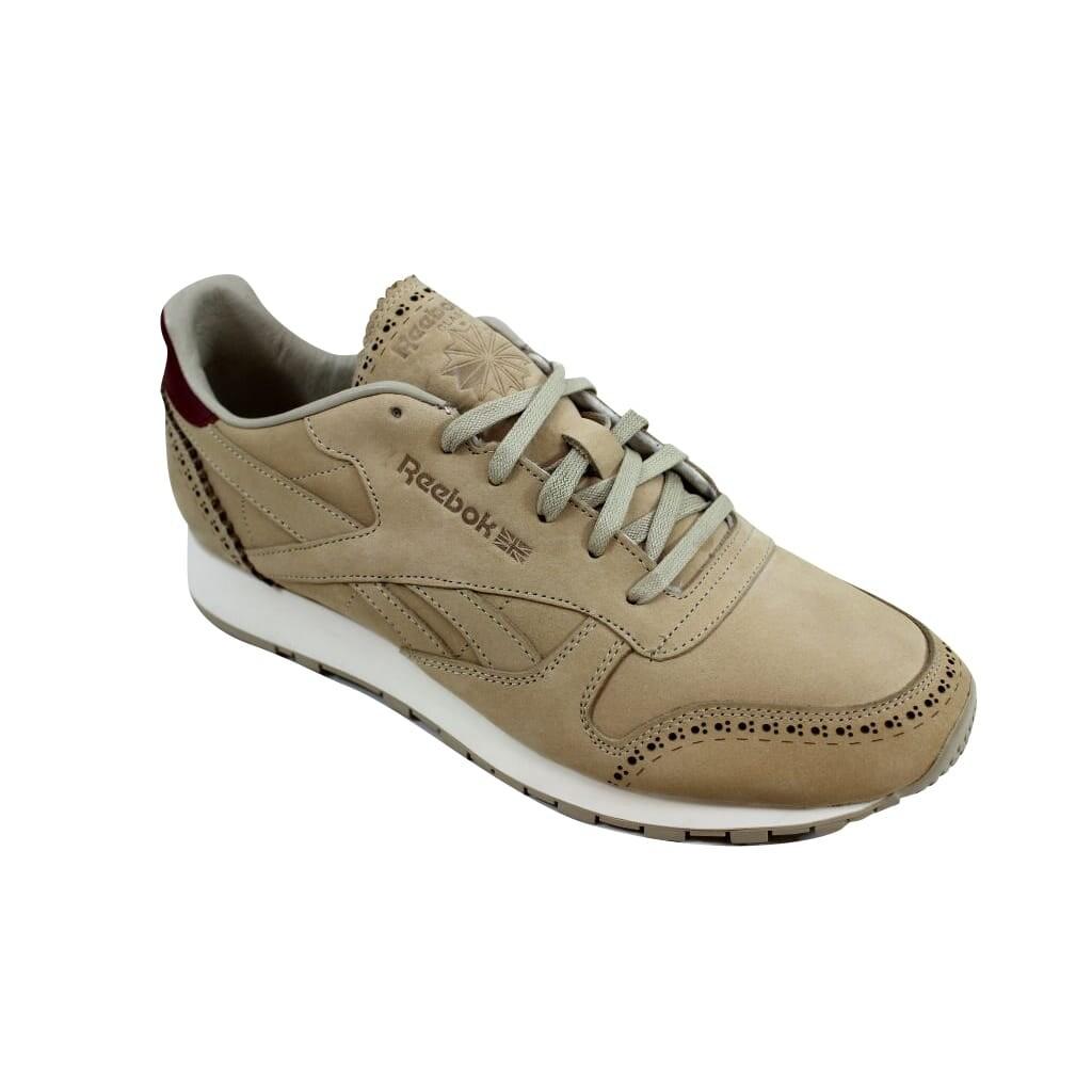 bc27ea3855030 Reebok Classic Leather Lux Horween Sandstone Merlot-Chalk AQ9963 Men s