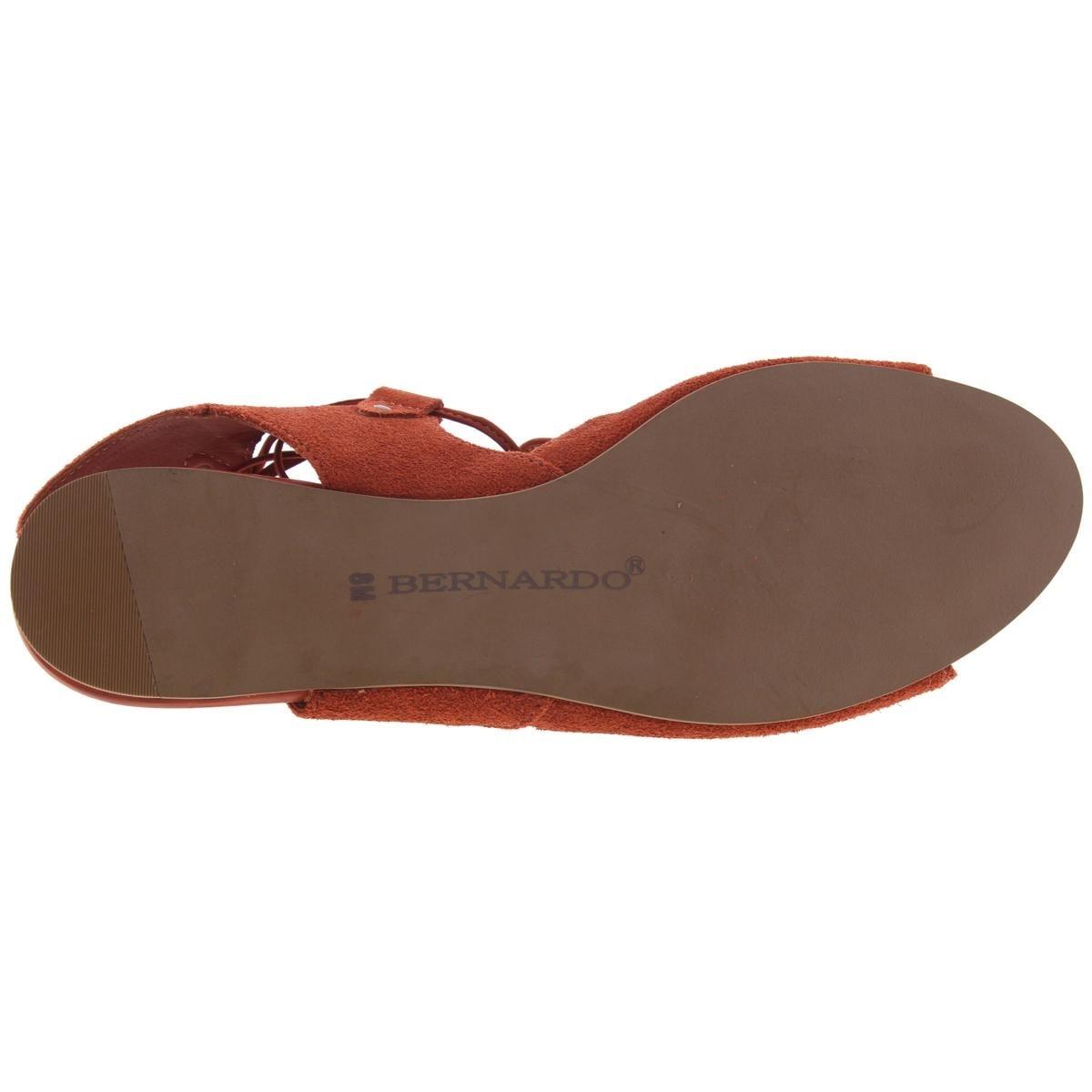 d32c581445f Shop Bernardo Womens Olivia Gladiator Sandals Suede Flat - 8 medium ...