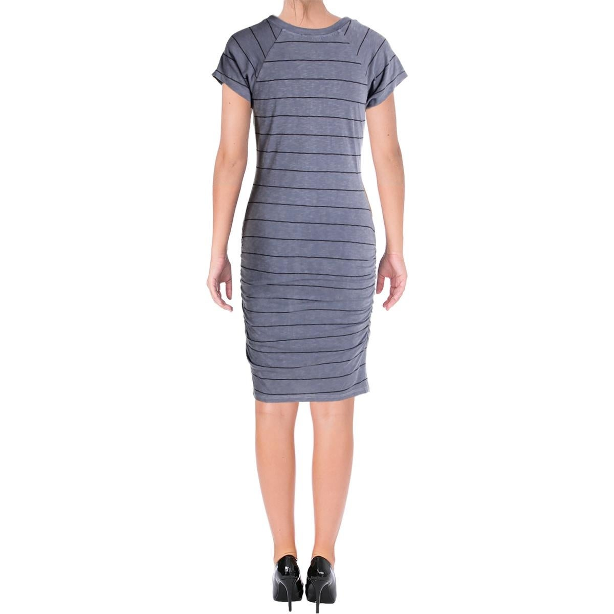 Shop Sundry Womens T Shirt Dress Casual Knee Length Free Shipping