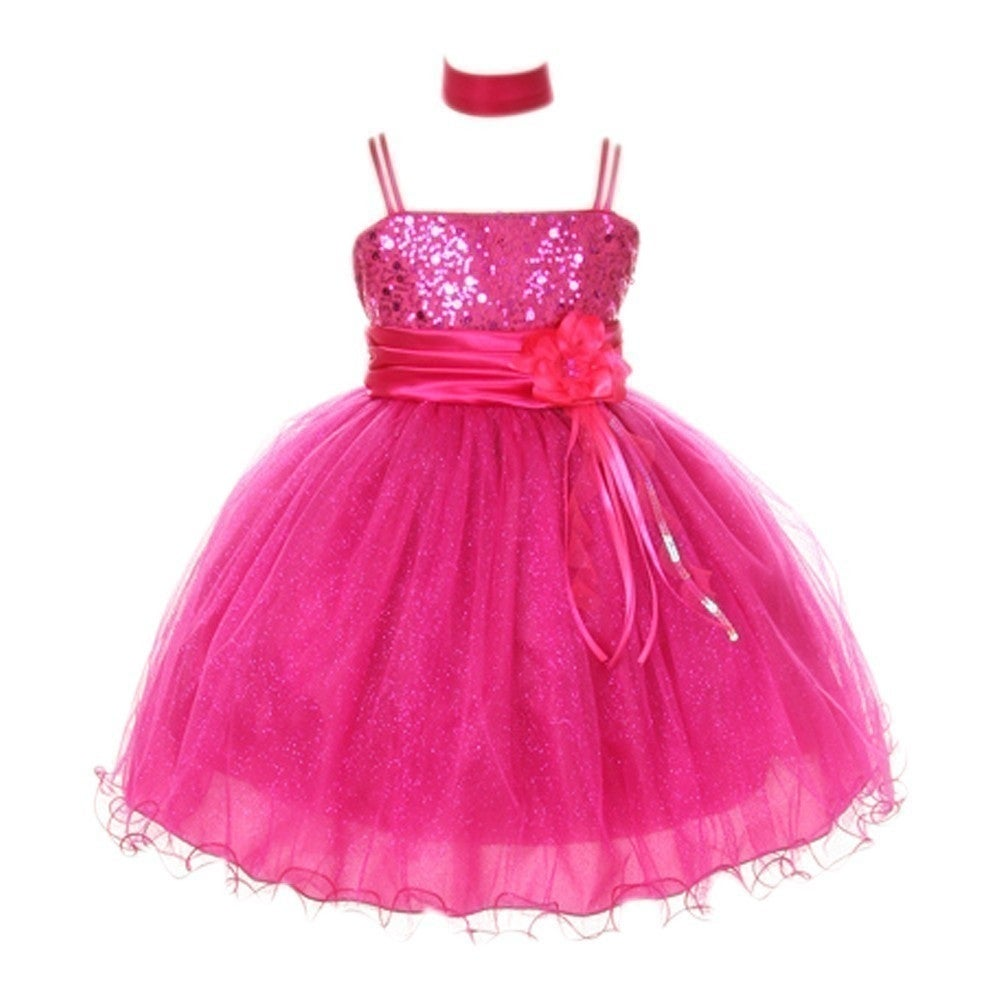 Girls fuchsia floral sash adorned sequin junior bridesmaid dress 8 girls fuchsia floral sash adorned sequin junior bridesmaid dress 8 18 free shipping today overstock 24319793 ombrellifo Choice Image