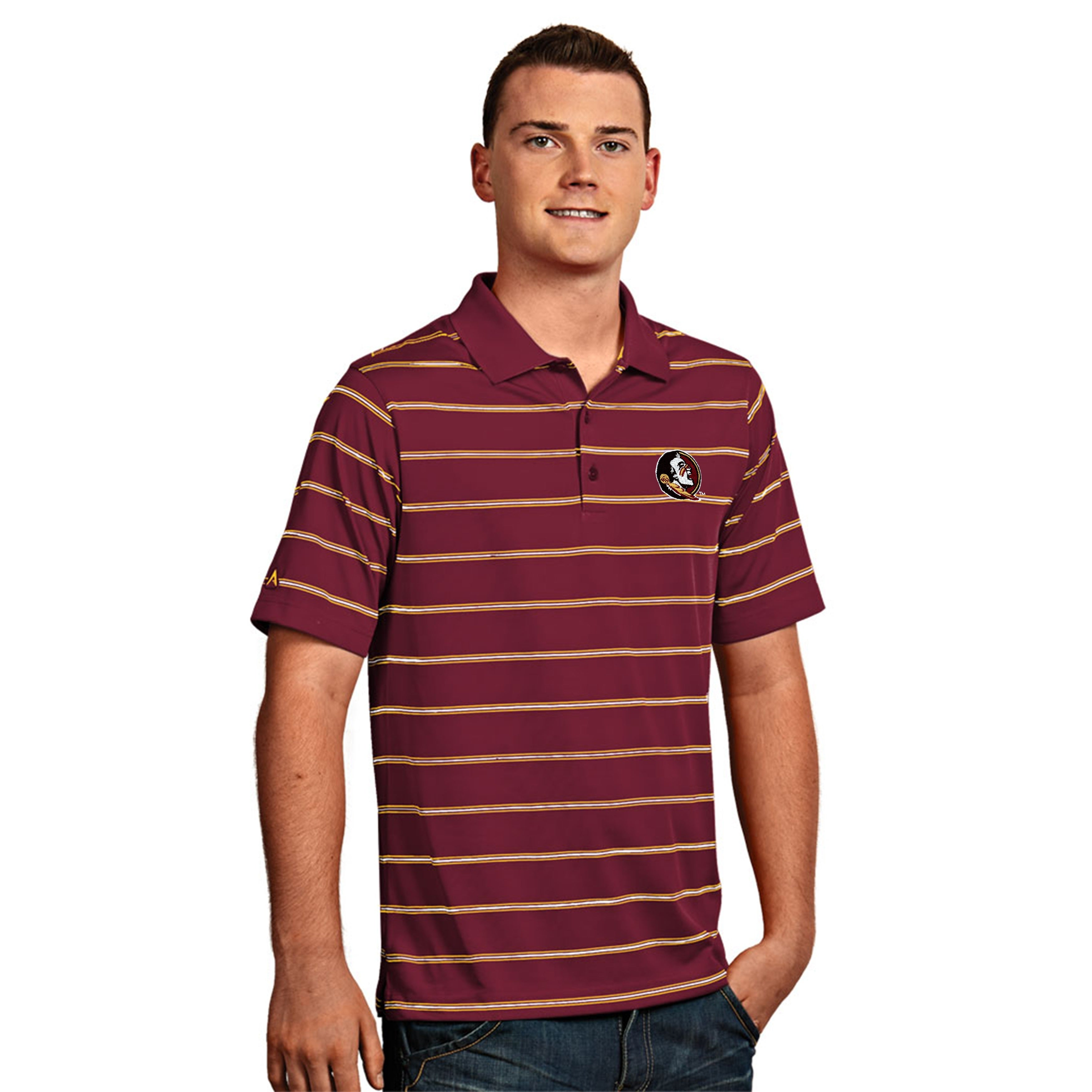 Shop Florida State University Mens Deluxe Polo Shirt Free