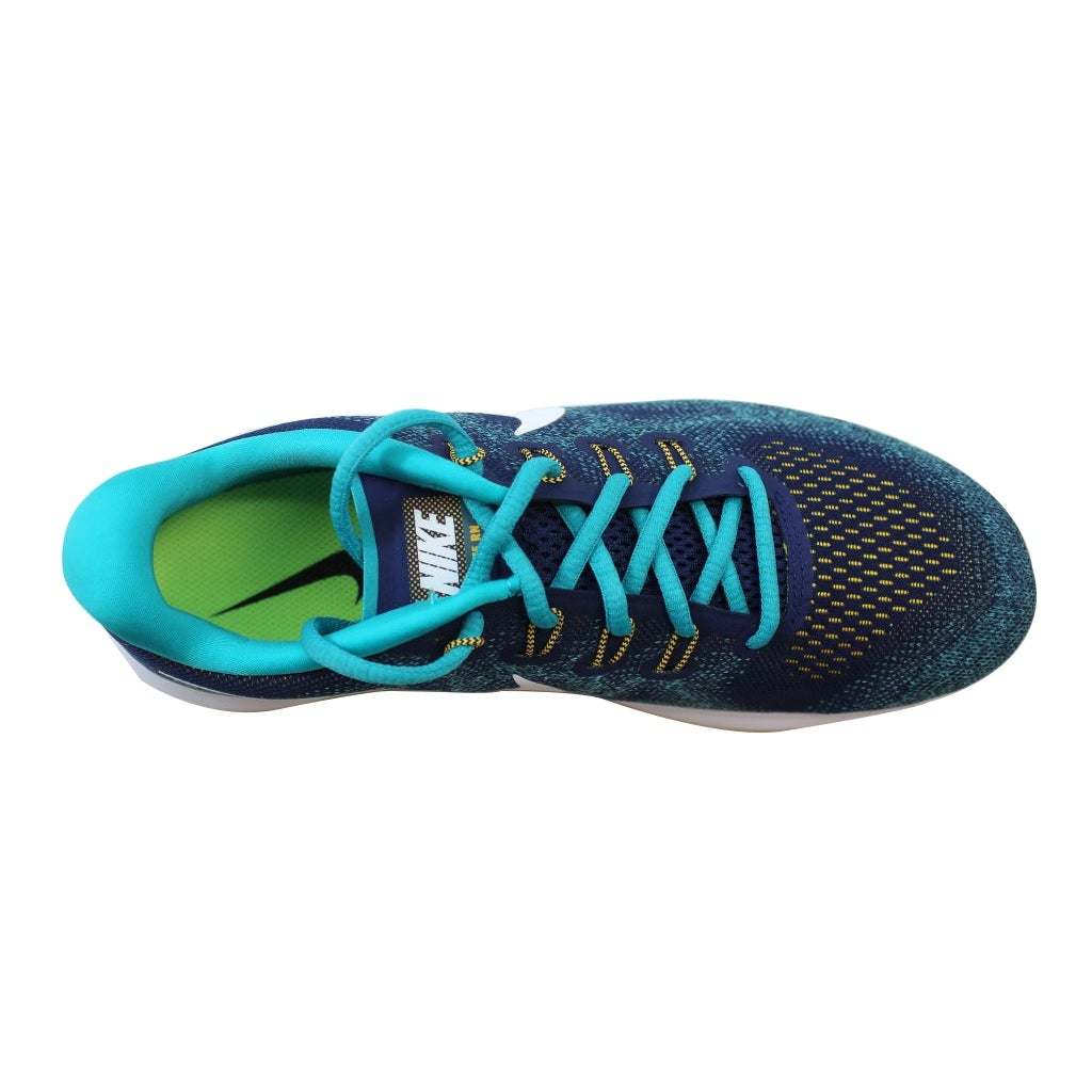 e92c17b73c94 Shop Nike Men s Free RN 2017 Binary Blue White-Turbo Green 880839-403 - Free  Shipping Today - Overstock - 21141381