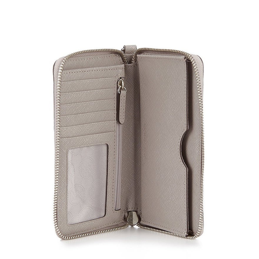 f9d8420f94bc Shop Michael Kors Large Flat Multifunction Case - Pearl Grey - On Sale -  Free Shipping Today - Overstock - 26233026