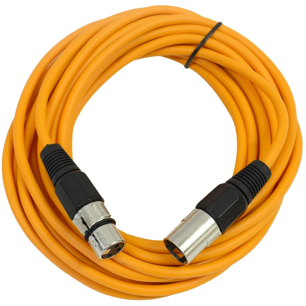 Seismic Audio Pair Of Orange 25 Xlr Male To Female Microphone Patch Wiring Cables Free Shipping On Orders Over 45 20713050