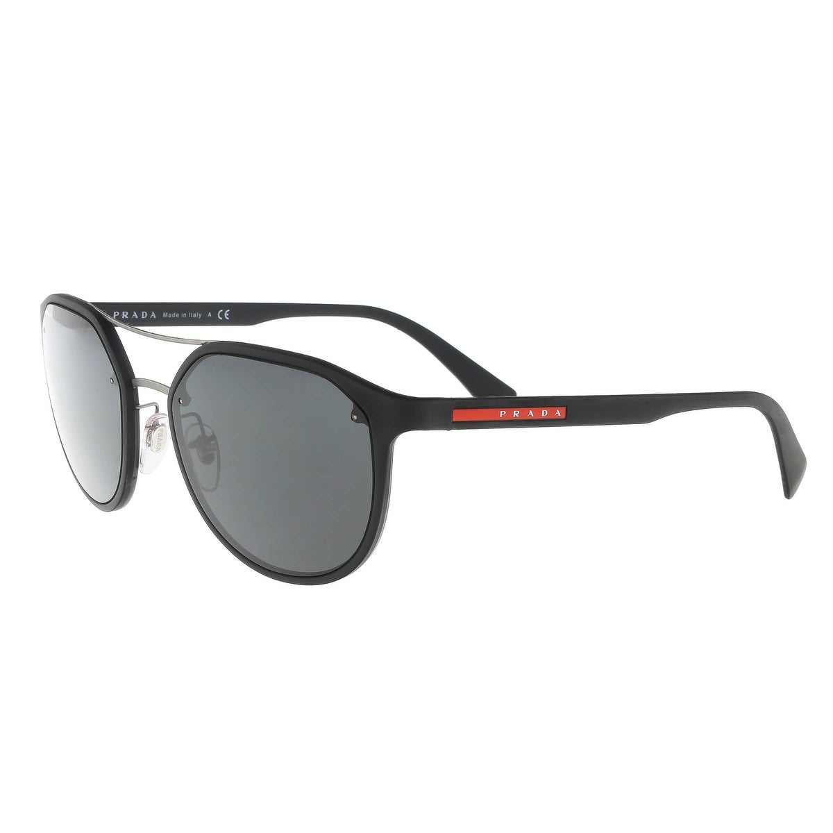 bc4e87373140d Shop Prada PS 55SS DG05S0 Black Aviator Sunglasses - 53-19-140 ...