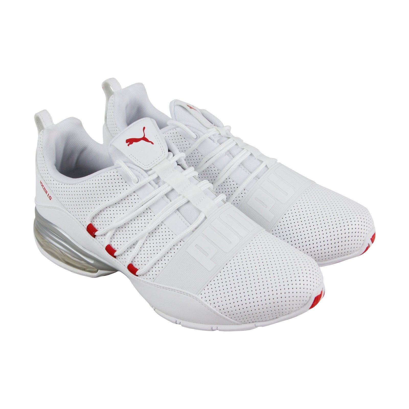 a78a13a3e5c88c Puma Cell Regulate Sl Mens White Leather Athletic Lace Up Running Shoes