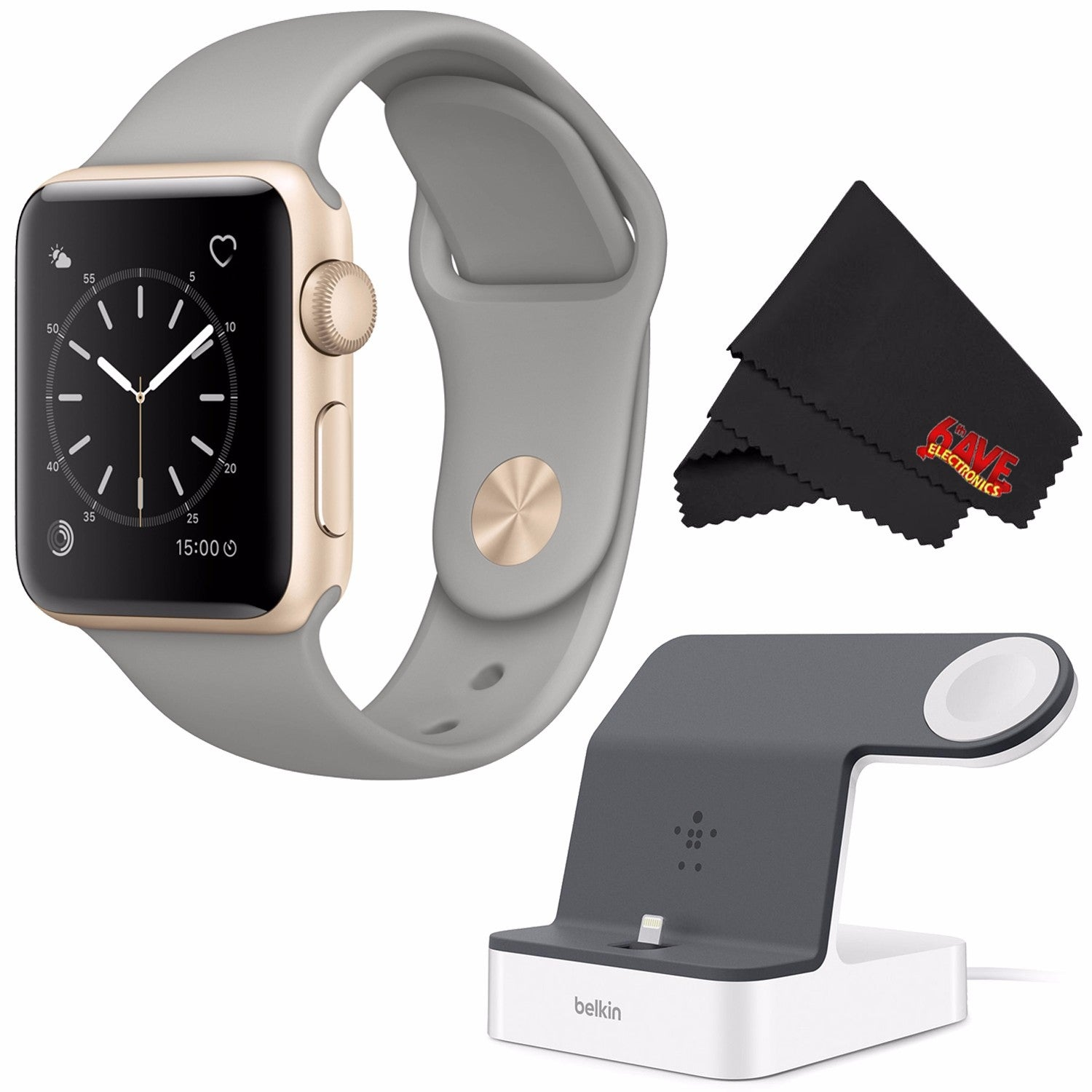 Shop Apple Watch Series 2 38mm Silver Aluminum Case White Sport 42mm Gold Aluminium With Midnight Blue Band Powerhouse Charge Dock For Iphone Bundle Free Shipping Today