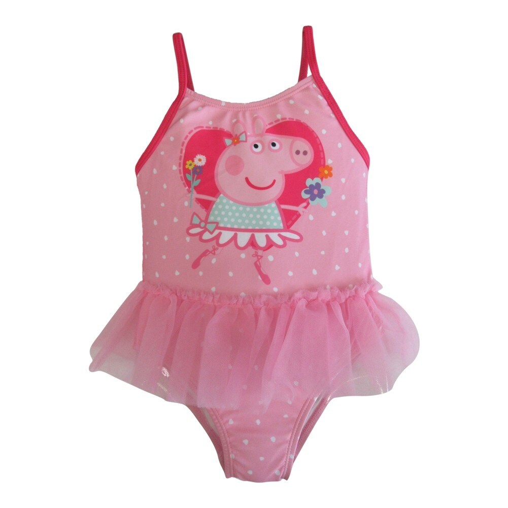 b2827919aa Shop Peppa Pig Little Toddler Girls Pink Tutu One Piece UPF 50+ Swimsuit -  Free Shipping On Orders Over  45 - Overstock - 18173849