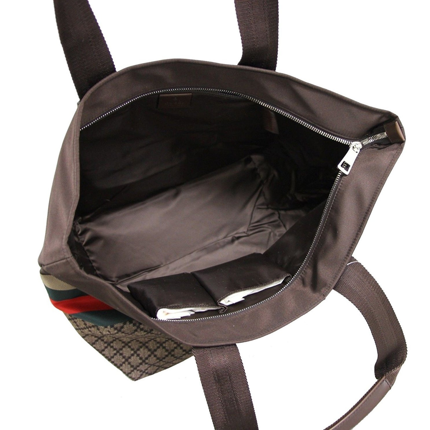 f135cf6e1e5b78 Shop Gucci Unisex Brown Nylon Diamante Travel Tote Handbag 267922 8636 - One  size - Free Shipping Today - Overstock - 27603159