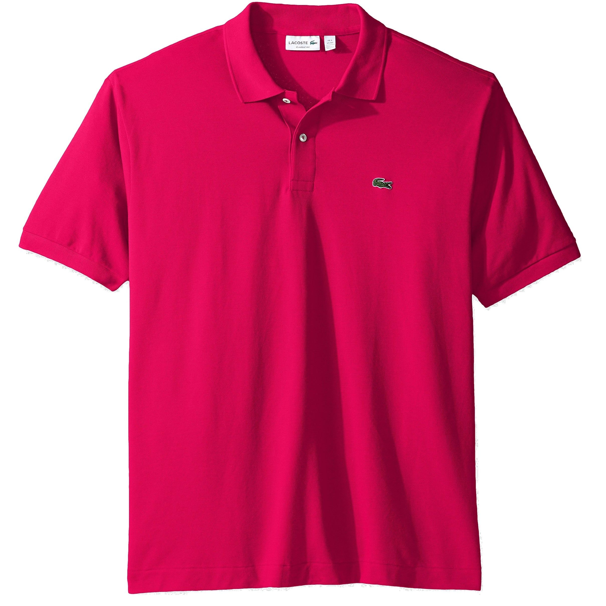 Shop Lacoste New Pink Mens Size Fr 8 Us 3xl Classic Fit Polo Rugby