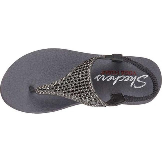 a8103a9ba91cf Shop Skechers Women s Meditation Rock Crown Thong Sandal Charcoal - On Sale  - Free Shipping On Orders Over  45 - Overstock - 19408540