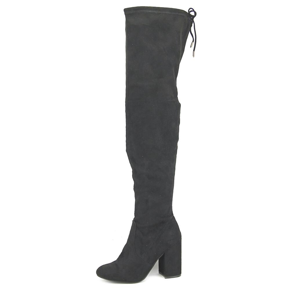 0d544d99c0d Shop Steve Madden Norri Women Round Toe Synthetic Black Over the Knee Boot  - Free Shipping Today - Overstock.com - 14415063