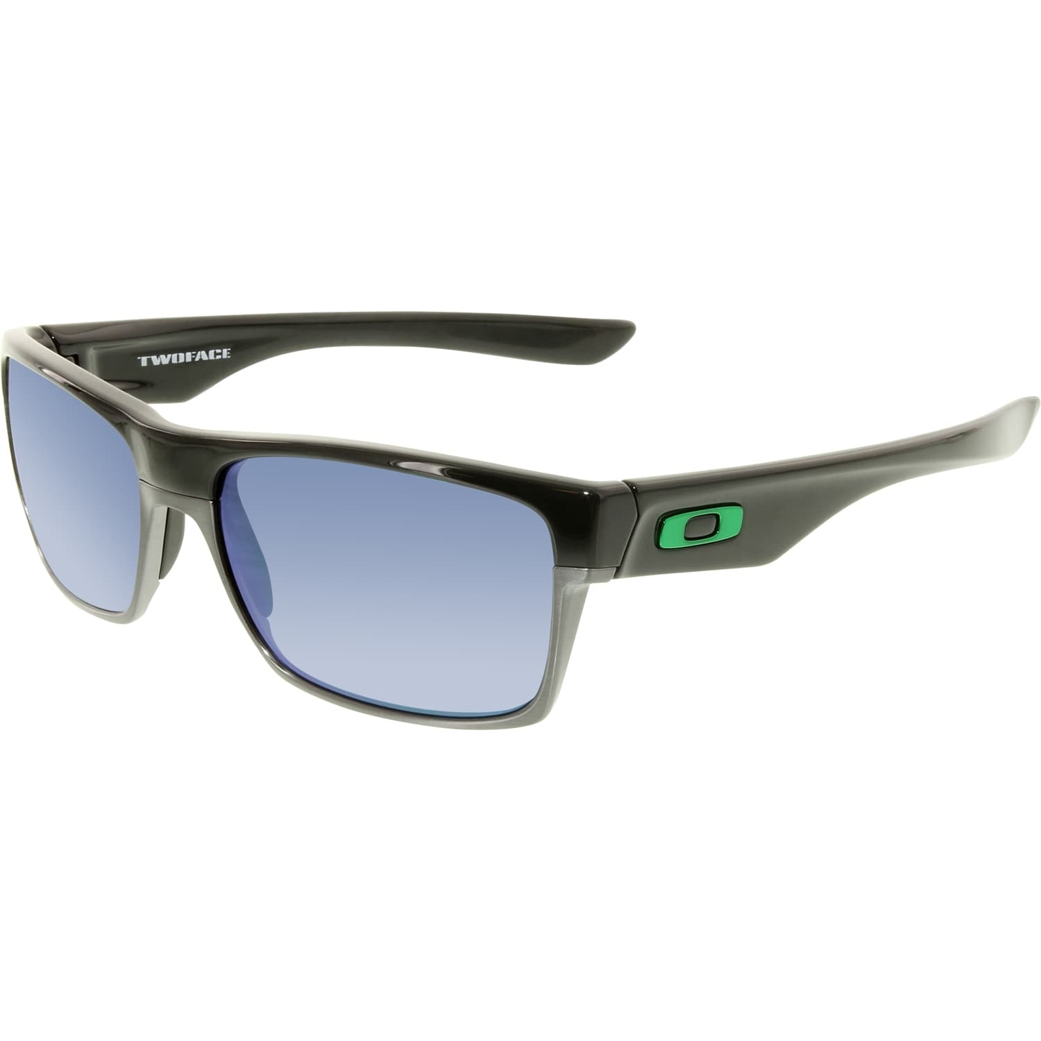 107074d0b3 Shop Oakley Men s Twoface OO9189-04 Black Square Sunglasses - Free ...