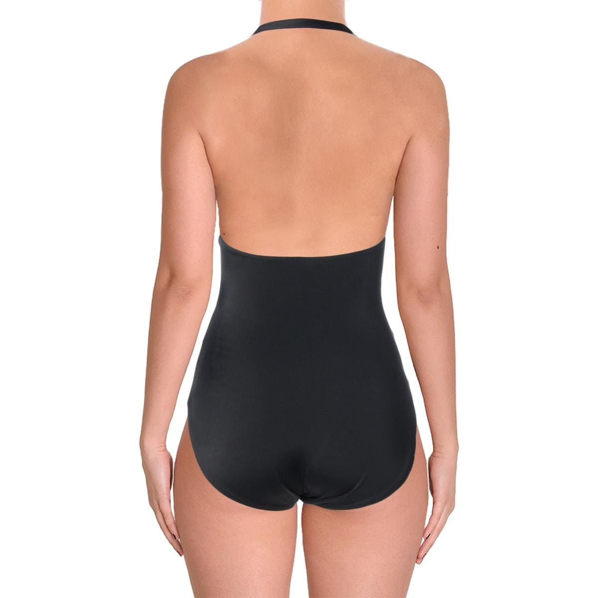 5a14e551fc87e Shop Norma Kamali Womens Gathered Halter One-Piece Swimsuit - Free Shipping  On Orders Over $45 - Overstock - 22802716