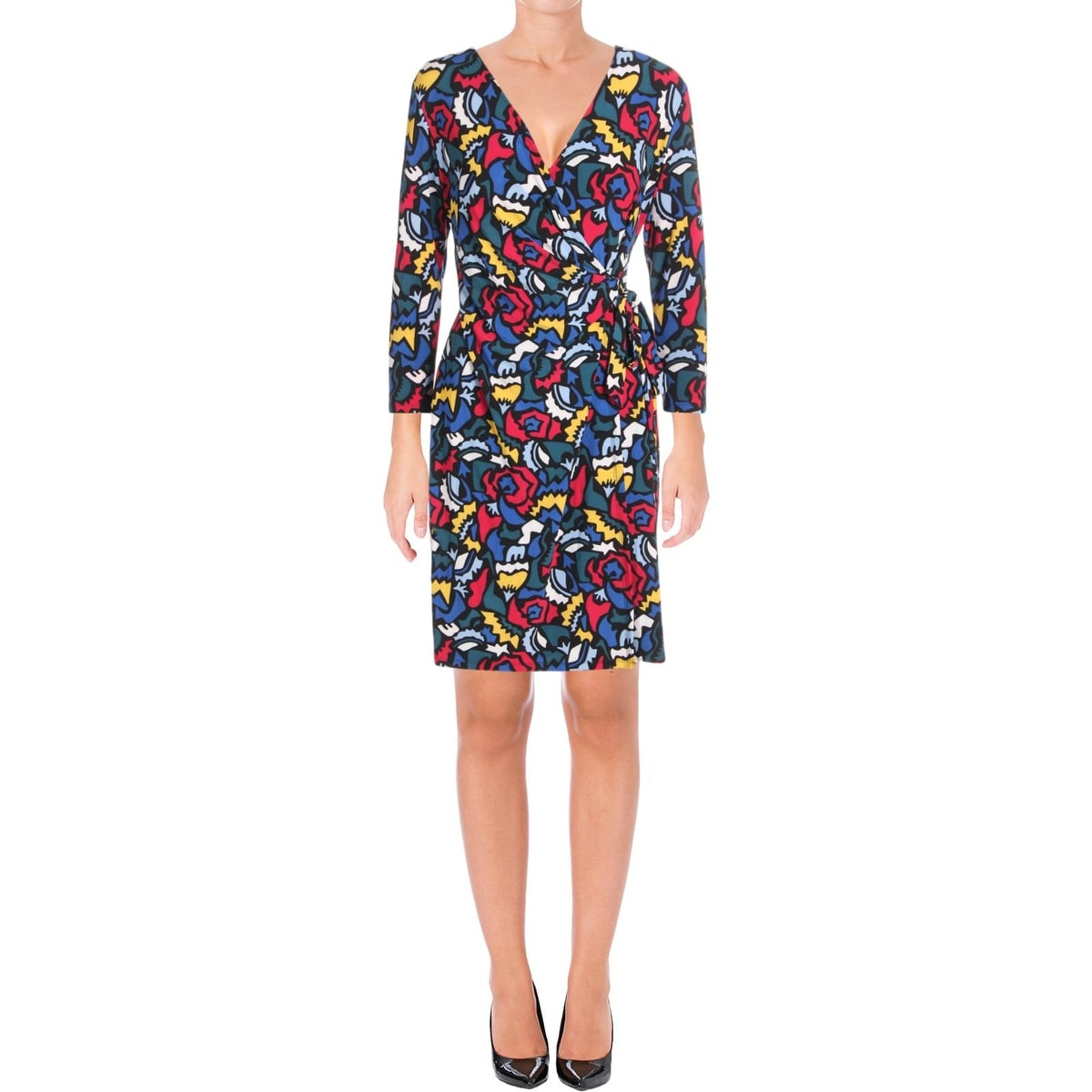 b24aab9a80f Shop Anne Klein Womens Wear to Work Dress Printed Faux Wrap - Free Shipping  On Orders Over $45 - Overstock - 23142256